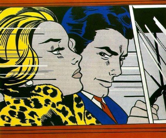 Roy Lichtenstein, In the Car, 1963.
